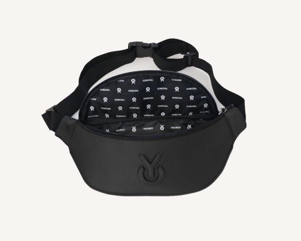 Gridlock chest pouch open - black